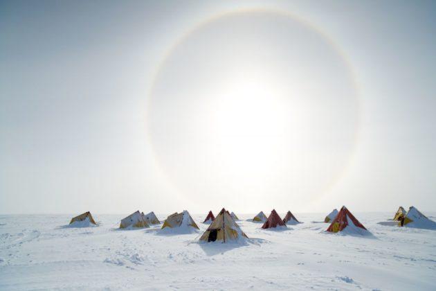 Drilling camp at Aurora Basin North (Photo: Tony Fleming)