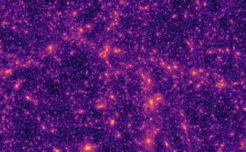 Excerpt from a typical computer-generated dark matter map used by the researchers to train the neural network. (Source: ETH Zurich)