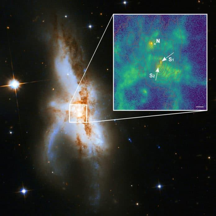 The irregular galaxy NGC 6240.