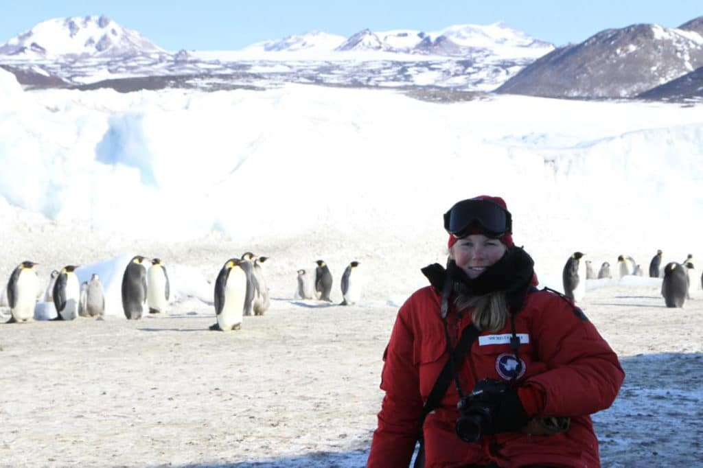"""Basically, if we don't hit the Paris Accord emissions goals, emperor penguins are in deep trouble,"" says paper co-author UC scientist Dr Michelle LaRue, a Lecturer of Antarctic Marine Science."