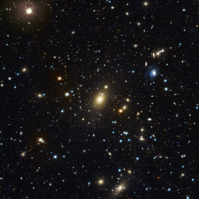 Record in the galaxy cluster: Image of Abell 85 cluster of galaxies obtained at the USM Wendelstein observatory of the… [more] © Matthias Kluge/USM/MPE