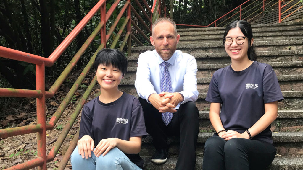 A research team led by NUS Associate Professor Frank Rheindt (centre) found five bird species and five subspecies new to science. Ms Gwee Chyi Yin (left) and Ms Wu Meng Yue (right) are members of the research team. Image: National University of Singapore