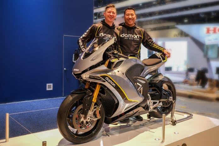 The Damon Motorcycles officially presented the Hypersport HS at CES in Las Vegas.