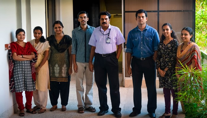 Dr. G.S. Vinod and colleagues at Rajiv Gandhi Centre for Biotechnology