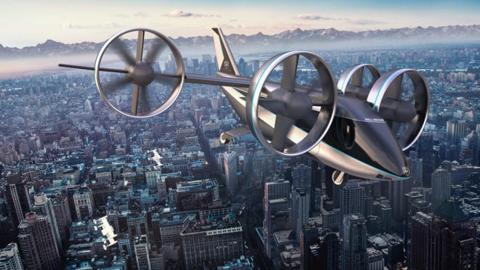 The latest Bell Nexus air taxi.