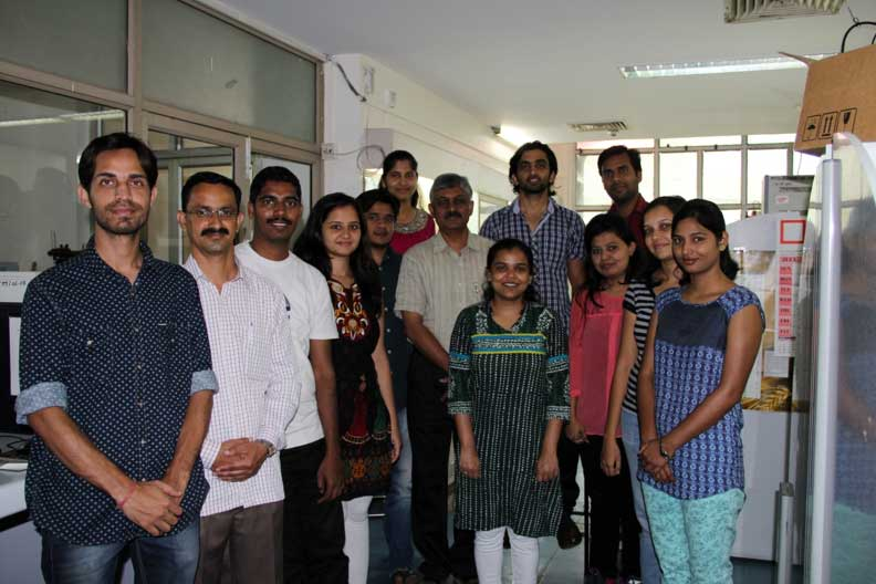 Dr. Arvind Sahu and his team at their lab.