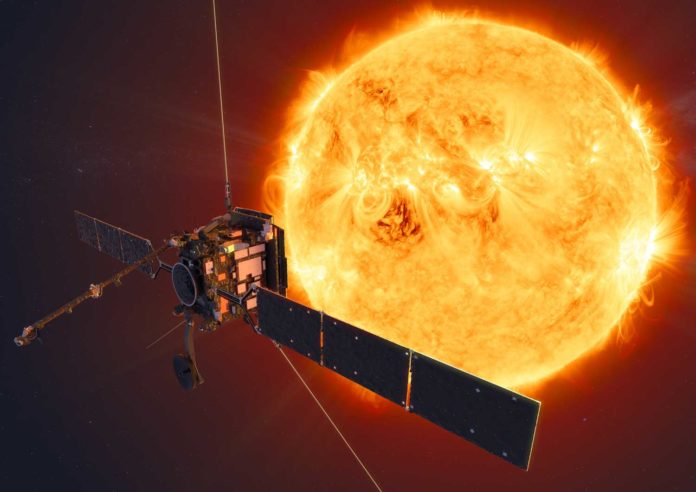 ESA's Solar Orbiter mission will face the Sun from within the orbit of Mercury at its closest approach. Credit: ESA/ATG medialab