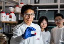 Prof Lianzhou Wang and fellow researchers at the University of Queensland.