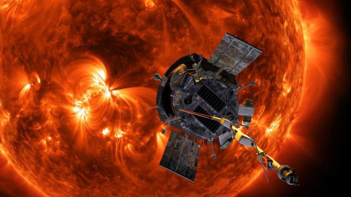 Illustration of Parker Solar Probe approaching the Sun. Credit: NASA/Johns Hopkins APL/Steve Gribben