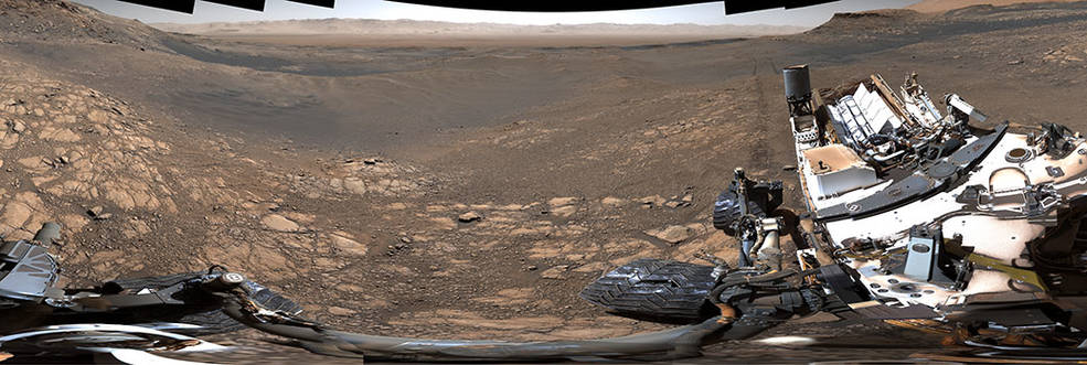 Along with an almost 1.8-billion-pixel panorama that doesn't feature the rover, NASA's Curiosity captured a 650-million-pixel panorama that features the rover itself. Credits: NASA/JPL-Caltech/MSSS