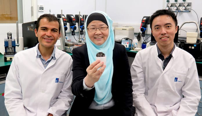 The NBL research team (left to right): Dr. Ayman AbdelHamid, Prof. Jackie Y. Ying and Mr. Jian Liang Cheong.