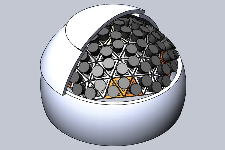 Each PANOSETI observatory will house a geodesic dome of 80 innovative telescopes.