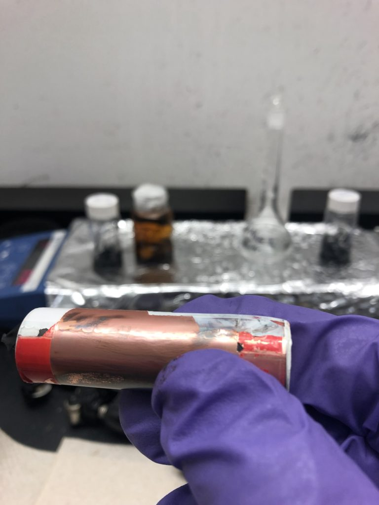 An electric vehicle battery with chemical damage after industry standard fast charging. (Ozkan Lab/UCR)