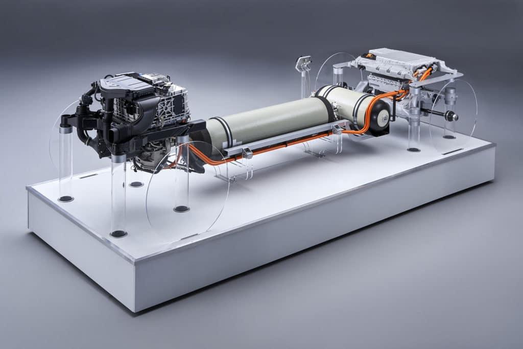 The powertrain for the BMW i Hydrogen NEXT. Credit: BMW