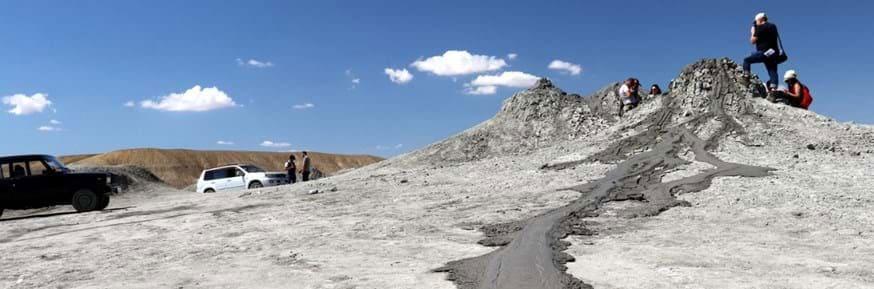 A mud volcano in Azerbaijan