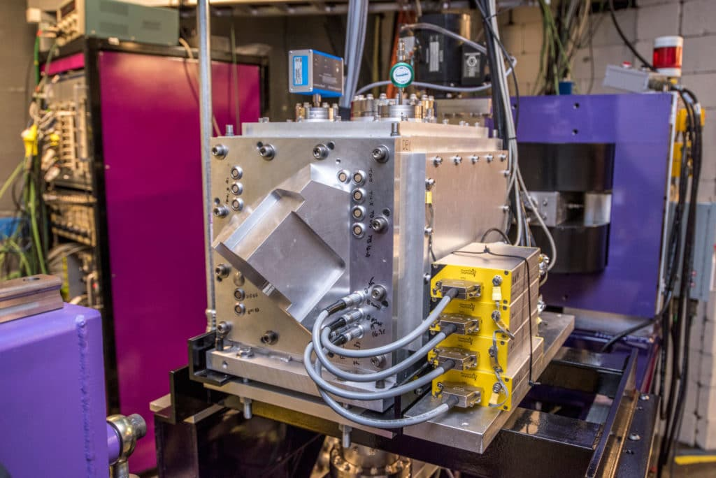 The FIONA instrument at Berkeley Lab's 88-Inch Cyclotron was key in confirming the discovery of mendelevium-244. <B>Credit: Marilyn Sargent/Berkeley Lab</B>