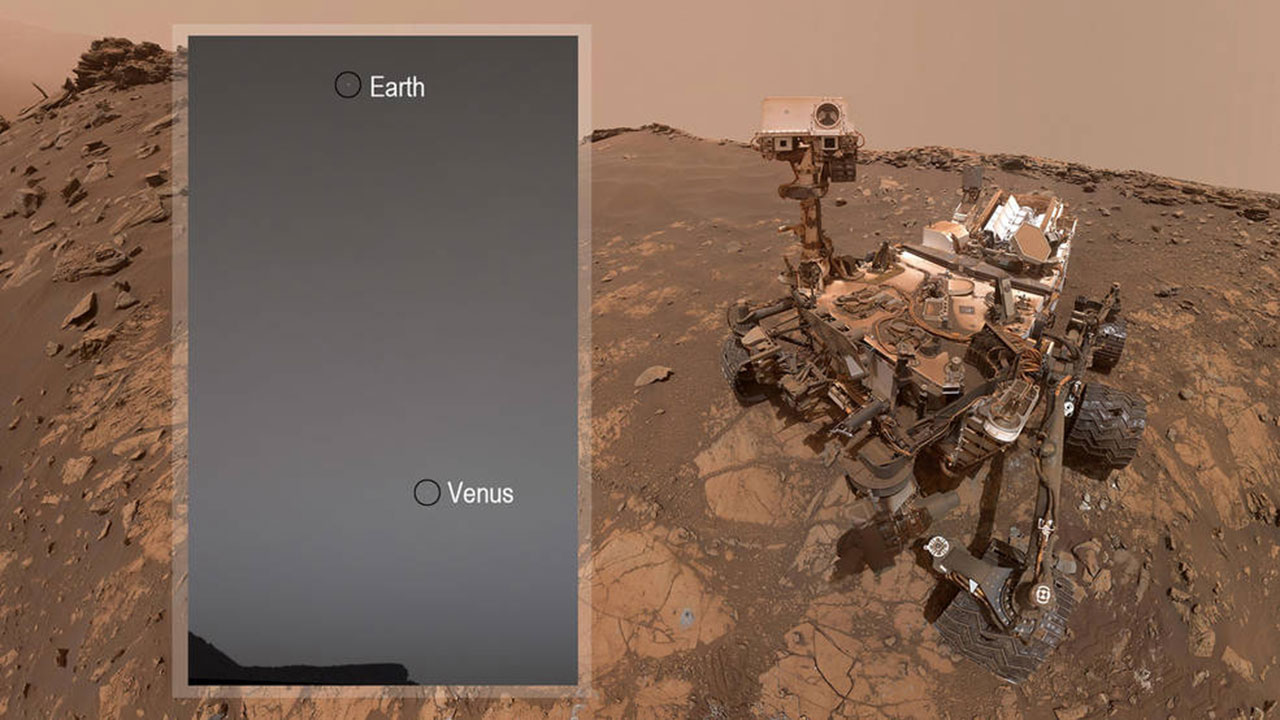 Curiosity Spots Earth and Venus from Martian Surface | Space Exploration