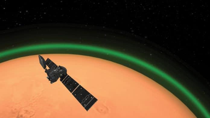 Weird green glow detected in Mars' atmosphere