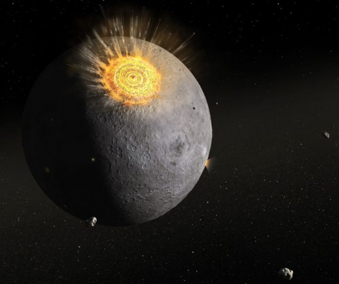 Large-scale meteorite impacts may have formed ancient rocks on the Moon