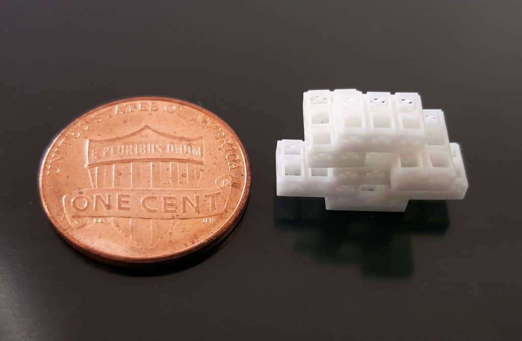 Each brick is 1.5 millimeters cubed, or roughly the size of a small flea.