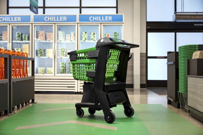 Amazon Dash Cart, a smart shopping cart that eliminates the checkout line.