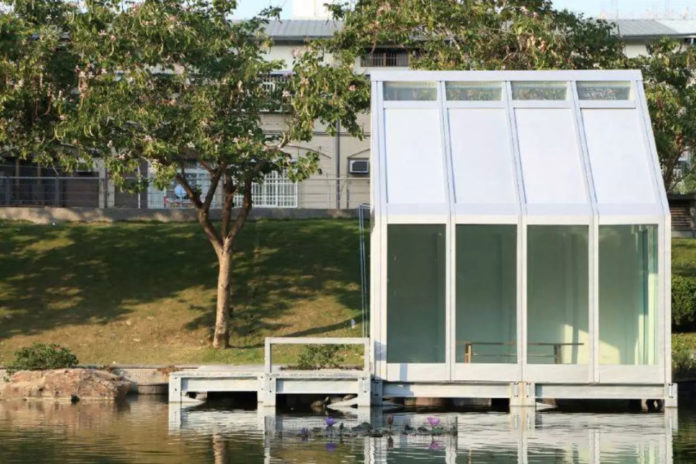 The Water House prototype building in Taiwan.