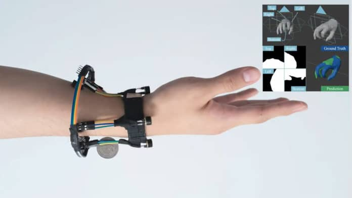 Wrist-mounted FingerTrak continuously tracks entire human hand in 3D.