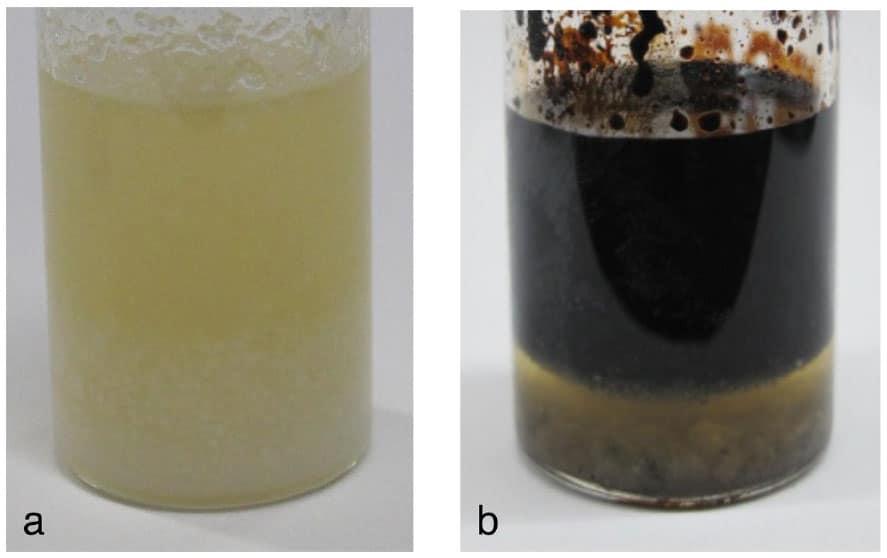 After heating at 400 ℃, analog of interstellar organic matter