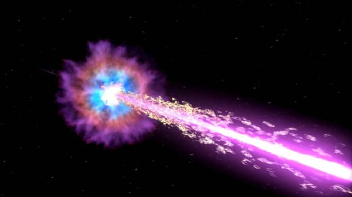 Artist's impression of a gamma-ray burst