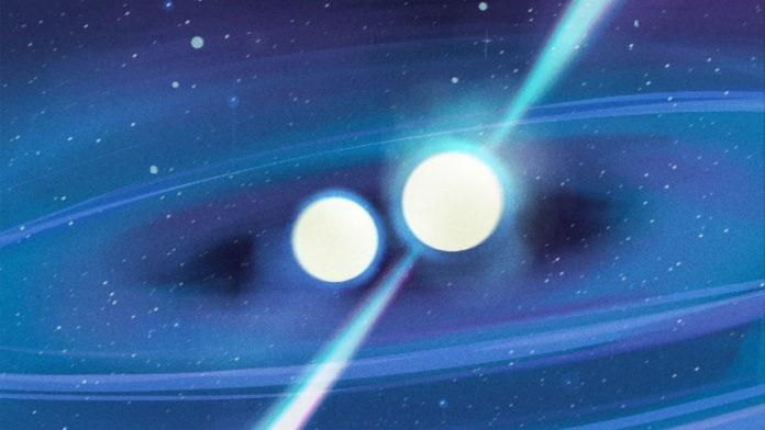 Concept art of double neutron star system