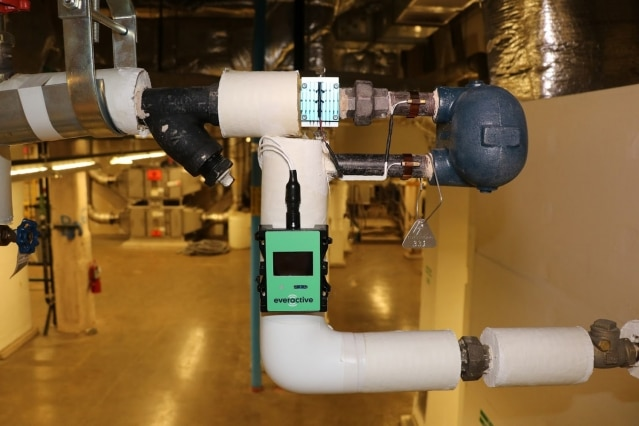 a sensor is pictured monitoring a pump