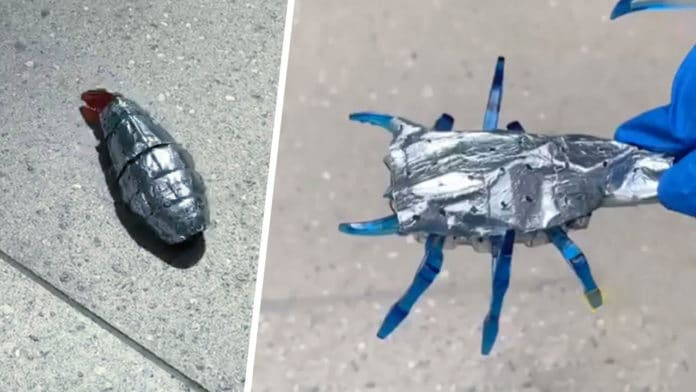 Researchers tested their zinc-battery on miniaturized toy robots in the shape of a worm and a scorpion.