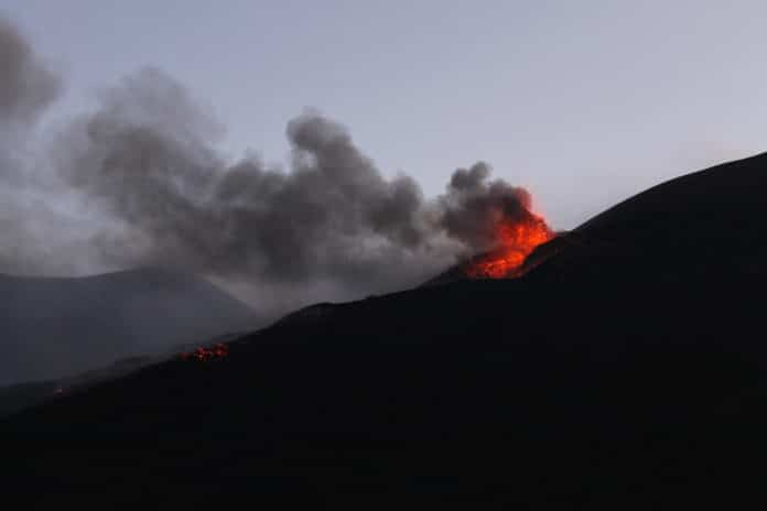 gentle effusive eruption typical of Mt Etna