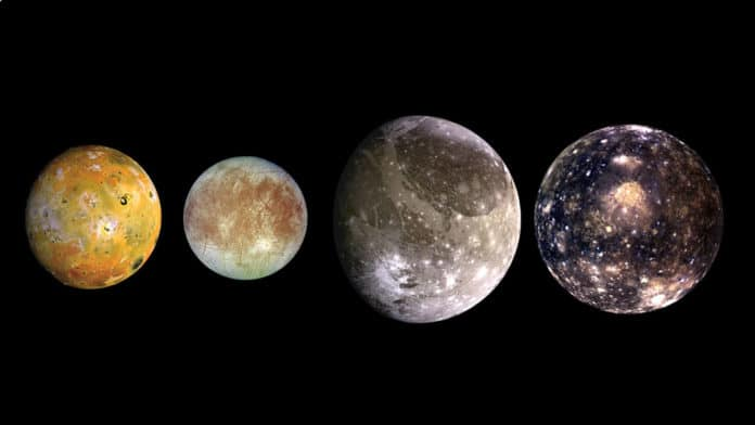 four largest moons of Jupiter