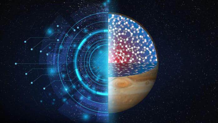 How hydrogen behaves on Saturn and Jupiter?