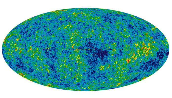 During its expansion, the universe evolved towards its present state, which is homogeneous and isotropic on large scales
