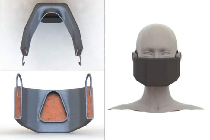 Heated face mask