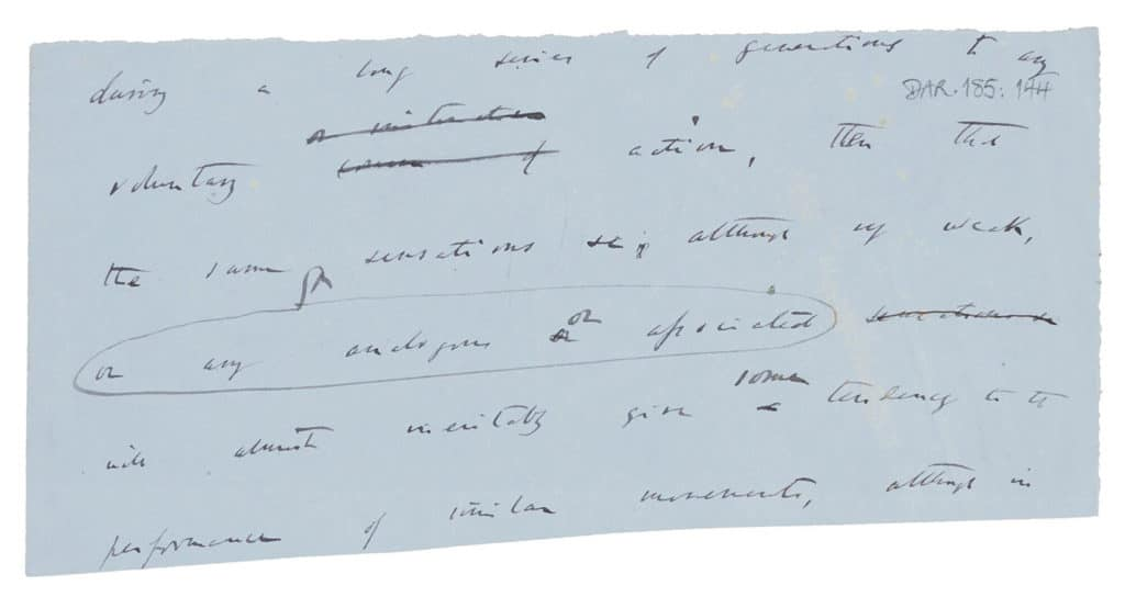 A draft leaf of The Expression of the Emotions in Man and Animals (1871)