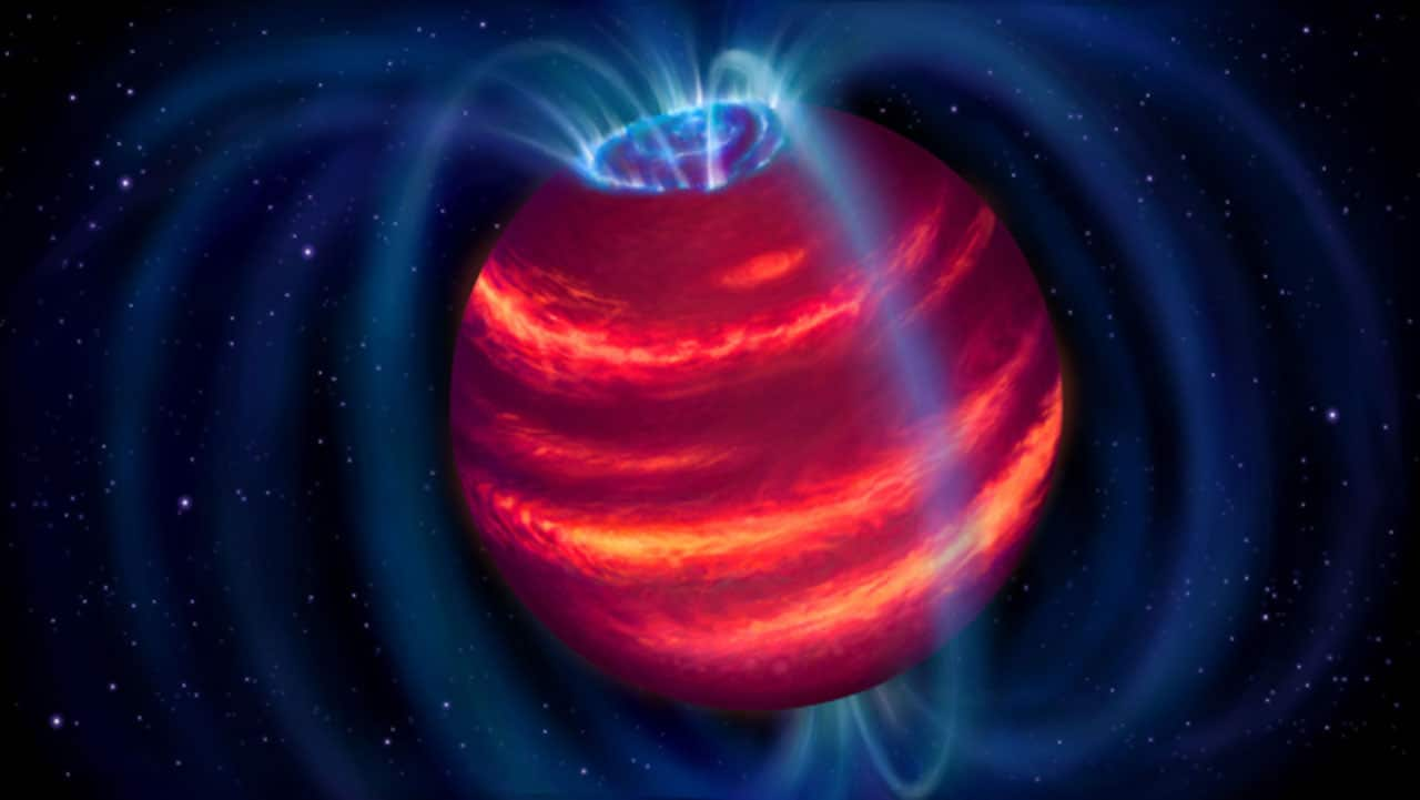 Faint Super Planet Discovered by Radio Telescope