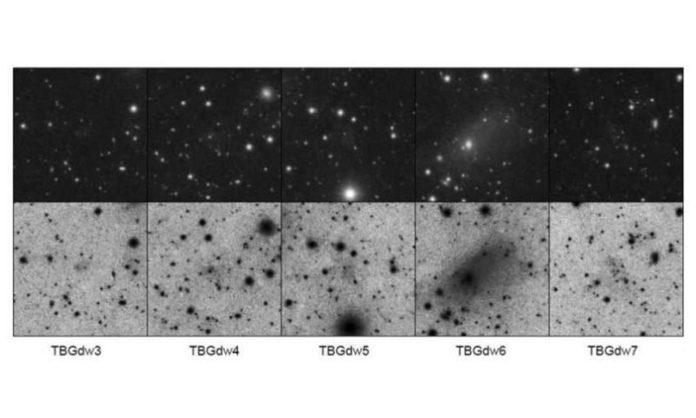 Scientists detected five faint dwarf galaxies around M63