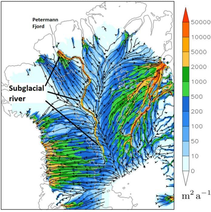 Possibly 1000 km long river running deep below Greenland's ice sheet