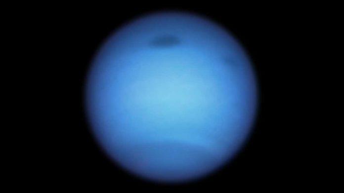 blue-green planet Neptune