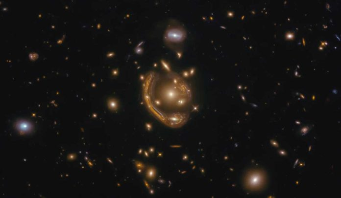 Hubble captured the largest and one of the most complete Einstein rings ever