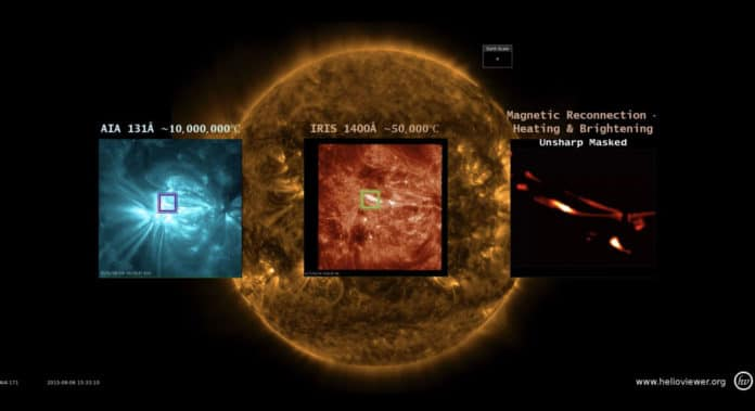 Images of the sun captured by the IRIS mission