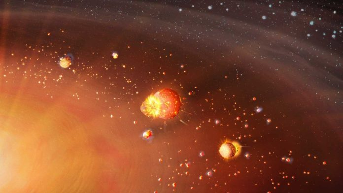 A two-step formation process of the early Solar System