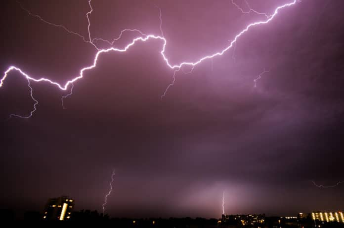 Lightning strikes are as important as meteorites for life origins on Earth