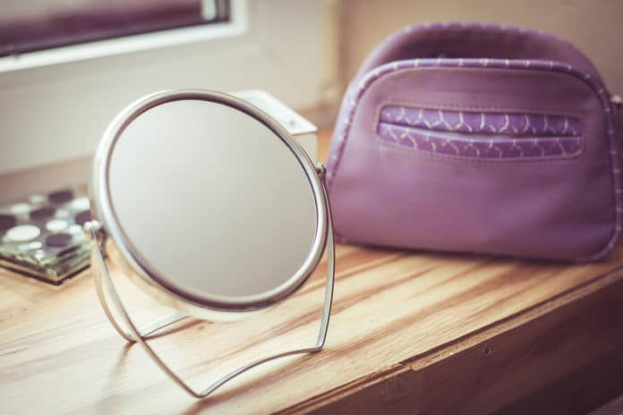 A mirror with stand
