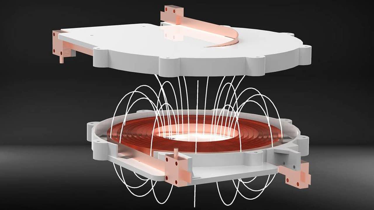 Contactless high-performance power transmission in the kilowatt range