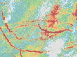 Ship tracks show how aerosols affect clouds fast and slow