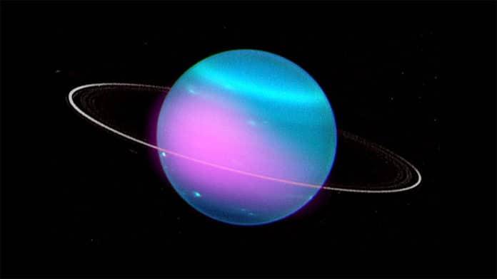 Composite image of Uranus.